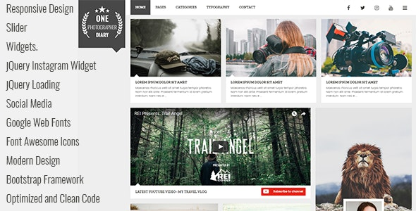 Patika - Responsive Blog HTML Template - Personal Site Templates