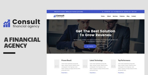 Consult-Financial Consulatnce Template - Corporate Site Templates