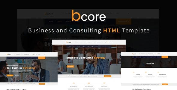 bcore - Business Consulting and Professional Services HTML Template - Business Corporate