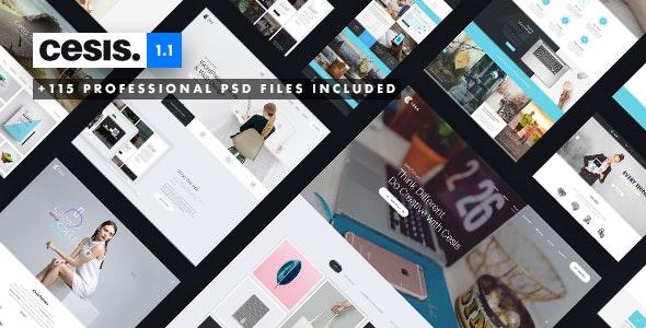 Cesis   Ultimate Multi-Purpose PSD Template - Business Corporate