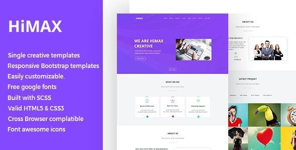 Himax - Single Page HTML Template - Creative Site Templates