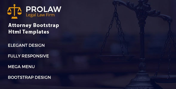 Prolaw Legal Law Firm - Attorney Bootstrap HTML Template - Corporate Site Templates