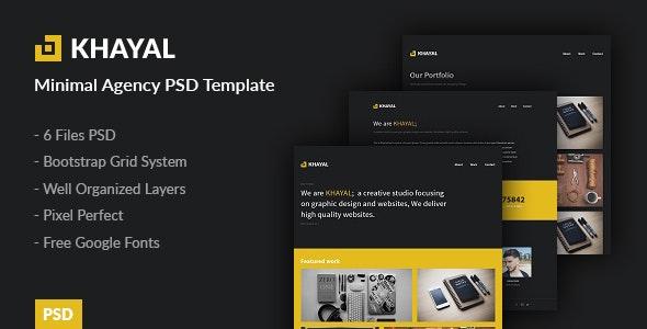 Khayal - Minimal Agency PSD Template - Portfolio Creative