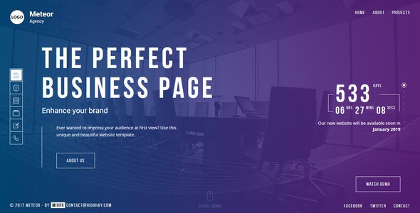 Meteor - Creative Website template for agency, business and portfolio - Portfolio Creative