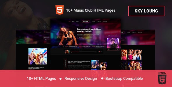 Sky Loung - DJ, Music, Club HTML Template - Nightlife Entertainment