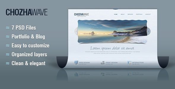 Chozha Wave Web Template for Design Studios - Creative Photoshop