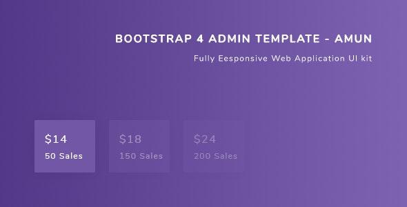 Bootstrap 4 Admin Template - Amun - Admin Templates Site Templates