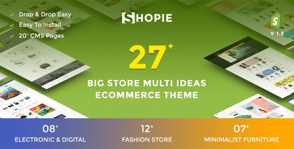 SHOPIE | Responsive Multi-Purpose Shopify Theme - Fashion, Clothing, Supermarket, Electronics, Minimal - Shopify eCommerce