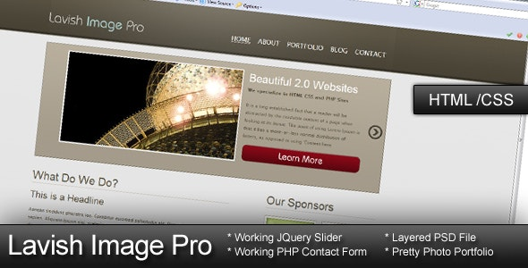 Lavish Image Pro - HTML CSS Template - Portfolio Creative