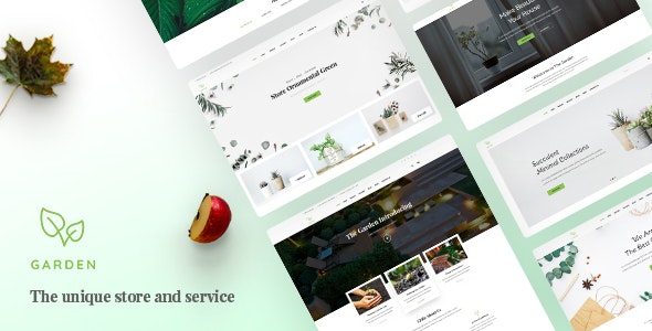 Garden | Lawn & Landscaping PSD Template - Business Corporate