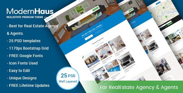 ModernHaus - Real Estate PSD Template - Business Corporate