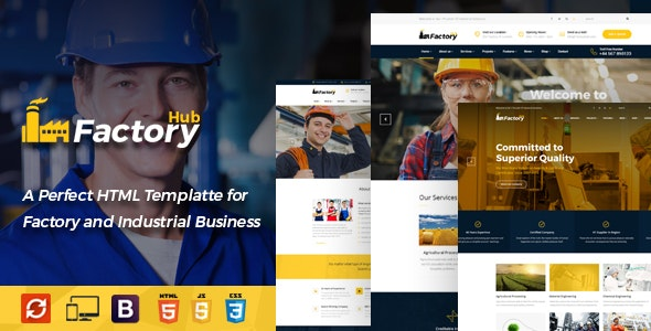 Factory HUB - Engineering and Industrial HTML Template - Business Corporate
