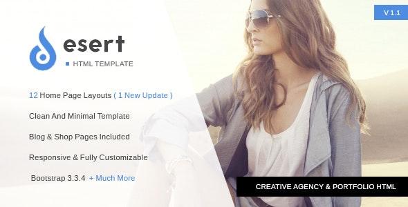 Desert - Multipurpose Agency HTML Template - Creative Site Templates