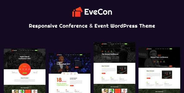 EveCon - Responsive Event & Conference WordPress Theme - Events Entertainment
