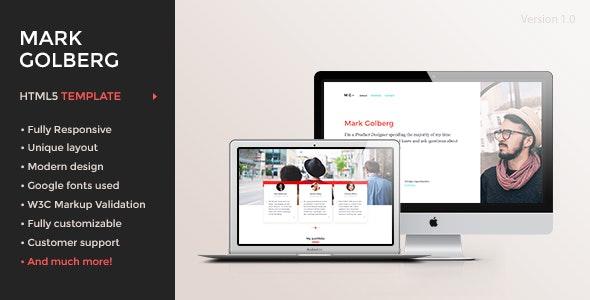 MG – Freelance Portfolio & Resume One Page HTML5 Template - Creative Site Templates
