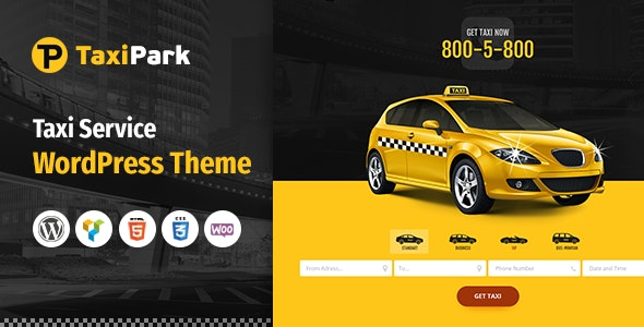 TaxiPark - Taxi Cab Service Company WordPress Theme by like