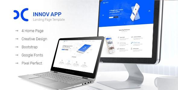 Innov App Landing Page - Photoshop UI Templates
