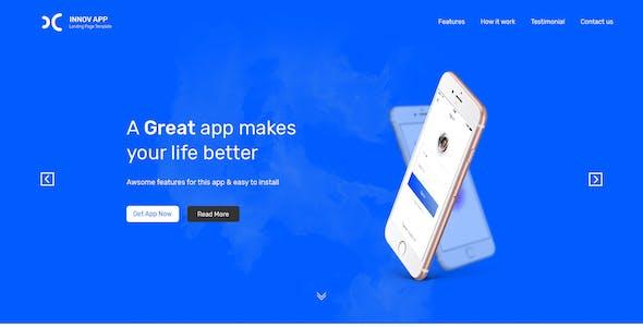 Innov App Landing Page