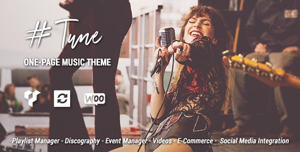 Tune - One-Page Music WordPress Theme - Music and Bands Entertainment