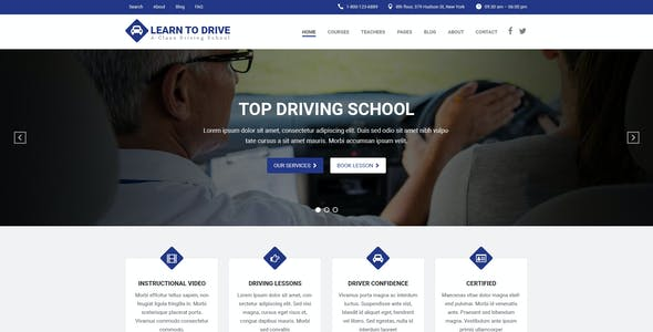 LEARNTODRIVE - Driving School PSD Template