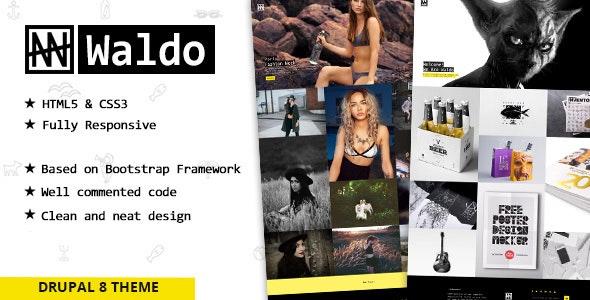 Waldo - Creative Portfolio Drupal 8 Theme - Portfolio Creative