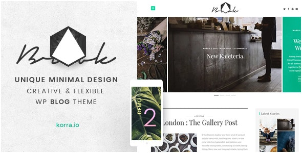 Brook | Light & Responsive WordPress Blog Theme - Personal Blog / Magazine