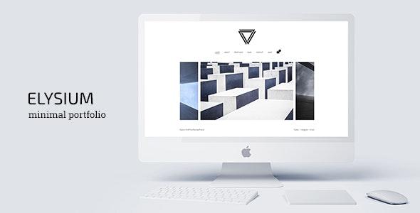 Elysium - Minimal WordPress Portfolio Theme - Portfolio Creative