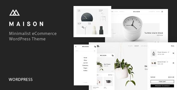 Maison - Minimalist eCommerce WordPress Theme - WooCommerce eCommerce