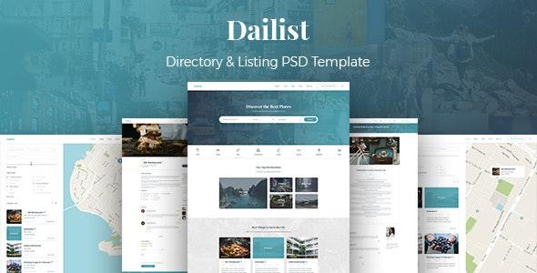 Dailist - Directory & Listing PSD Template - Corporate Photoshop