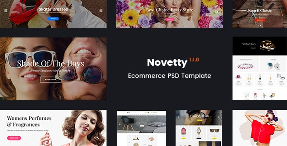 Novetty - Multi-purpose Ecommerce PSD Template - Retail Photoshop