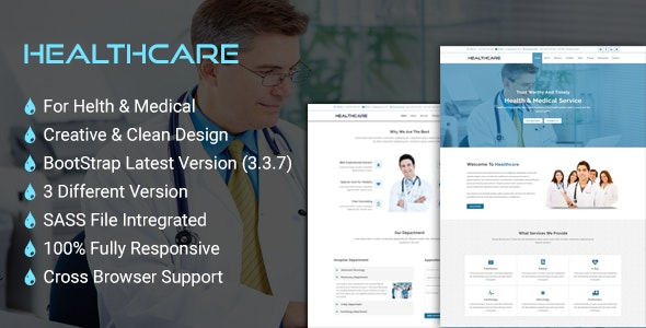 HealthCare - Onepage Health and Medical Business Template - Health & Beauty Retail