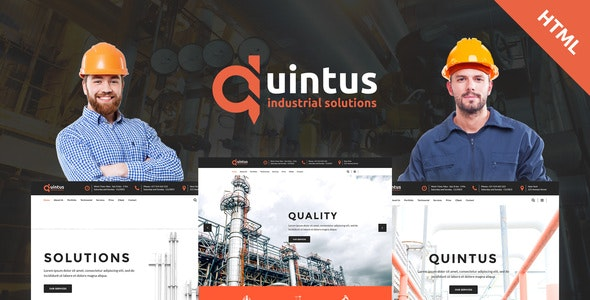 Quintus - Industry / Factory / Engineering HTML5 Template - Business Corporate
