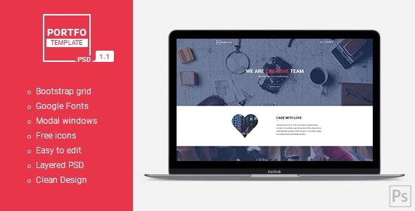 PORTFO - Website PSD Template - Portfolio Creative