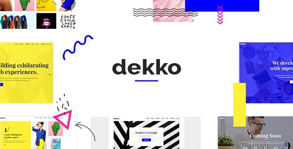 Dekko - Creative Agency Theme