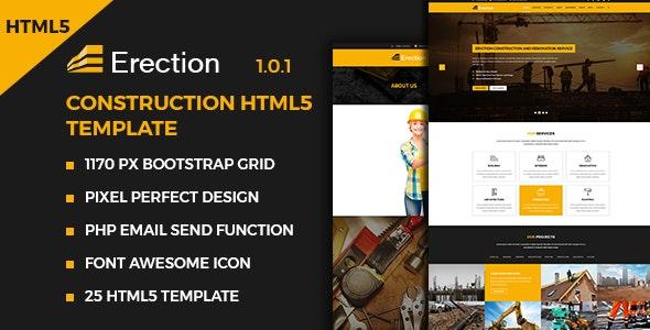 Erection - Construction Multipurpose HTML5 Template - Business Corporate