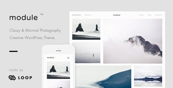 Module – A Minimalist Photography WordPress Theme - Photography Creative