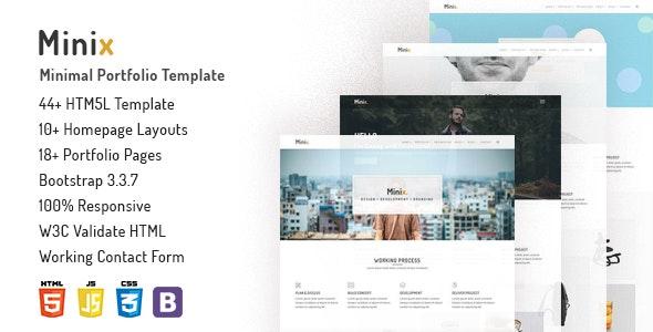 Minix - Minimal Portfolio Template - Portfolio Creative