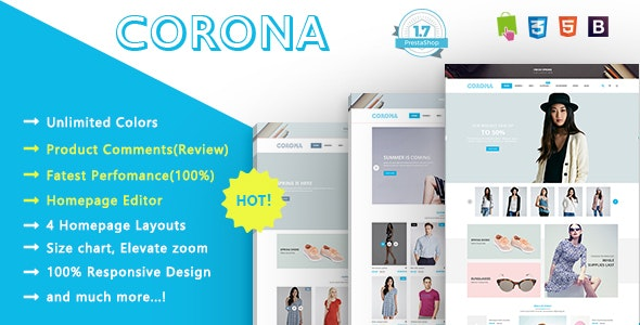 Corona - Flexible Responsive PrestaShop 1.7 Theme - Fashion PrestaShop