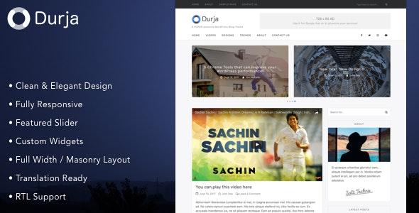 Durja - A Responsive WordPress Blog Theme - Personal Blog / Magazine