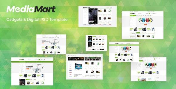 MediaMart - Gadgets & Digital PSD Template - Retail Photoshop