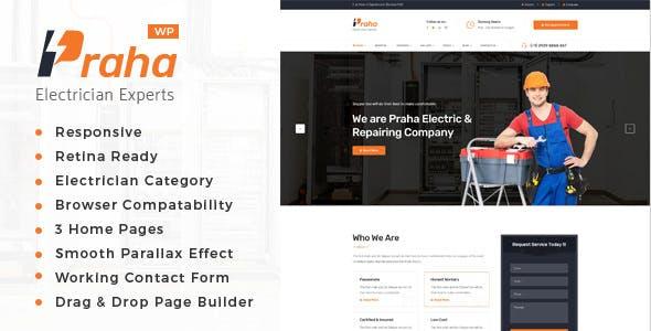 Praha - Electrician Experts WordPress Theme