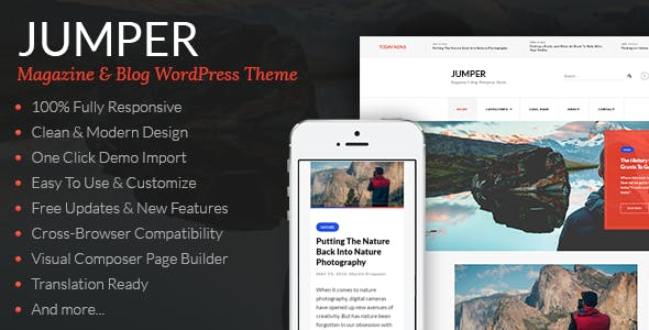 Jumper - Magazine & Blog WordPress Theme