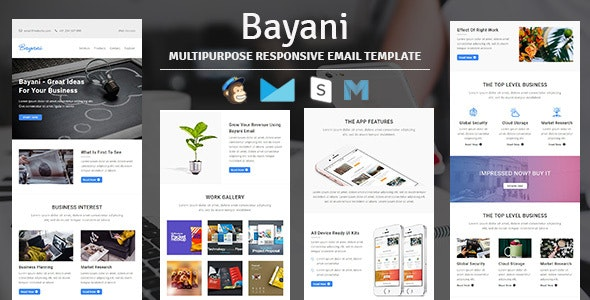 Bayani - Multipurpose Responsive Email Template with Stampready Builder Access - Newsletters Email Templates