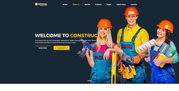 Construcel Construction PSD Template