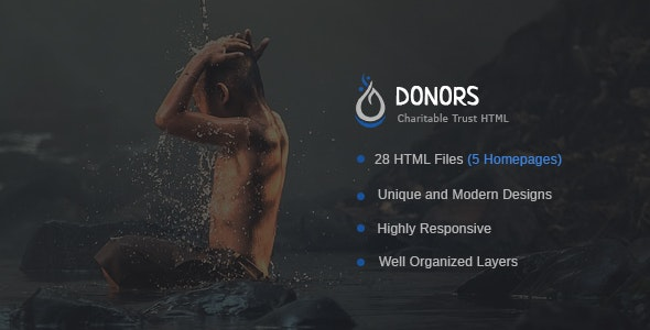 Donors - Multipurpose Non-profit Bootstrap 3 HTML Template - Charity Nonprofit