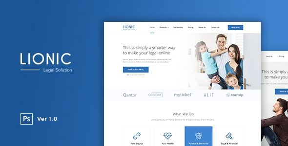 Lionic - Online Finance & Legal - Corporate Photoshop