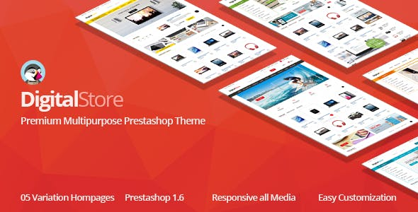 Digital Responsive Prestashop 1.6, 1.7 Theme