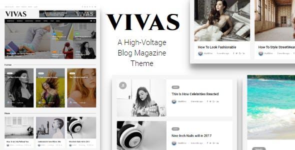 VIVAS Blog Magazine Newspaper WordPress Theme with Visual Composer
