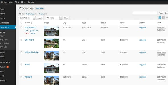 Easy Living - Real Estate Wordpress Theme
