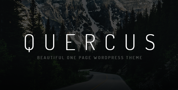 Quercus - Responsive One Page WordPress Theme - Creative WordPress
